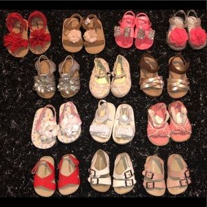 13 Baby Girl Bundle Of Sandals